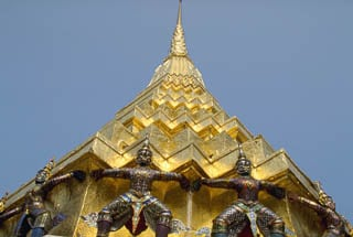 Gold leaf temple Grand Palace Bangkok