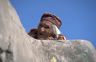 Elderly lady Tibet