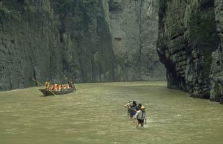 Boat pullers Shennong Stream Yangtze River