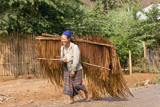 Thatched hut material Laos