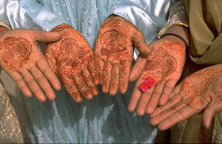 Heena hands in Jodhpur India