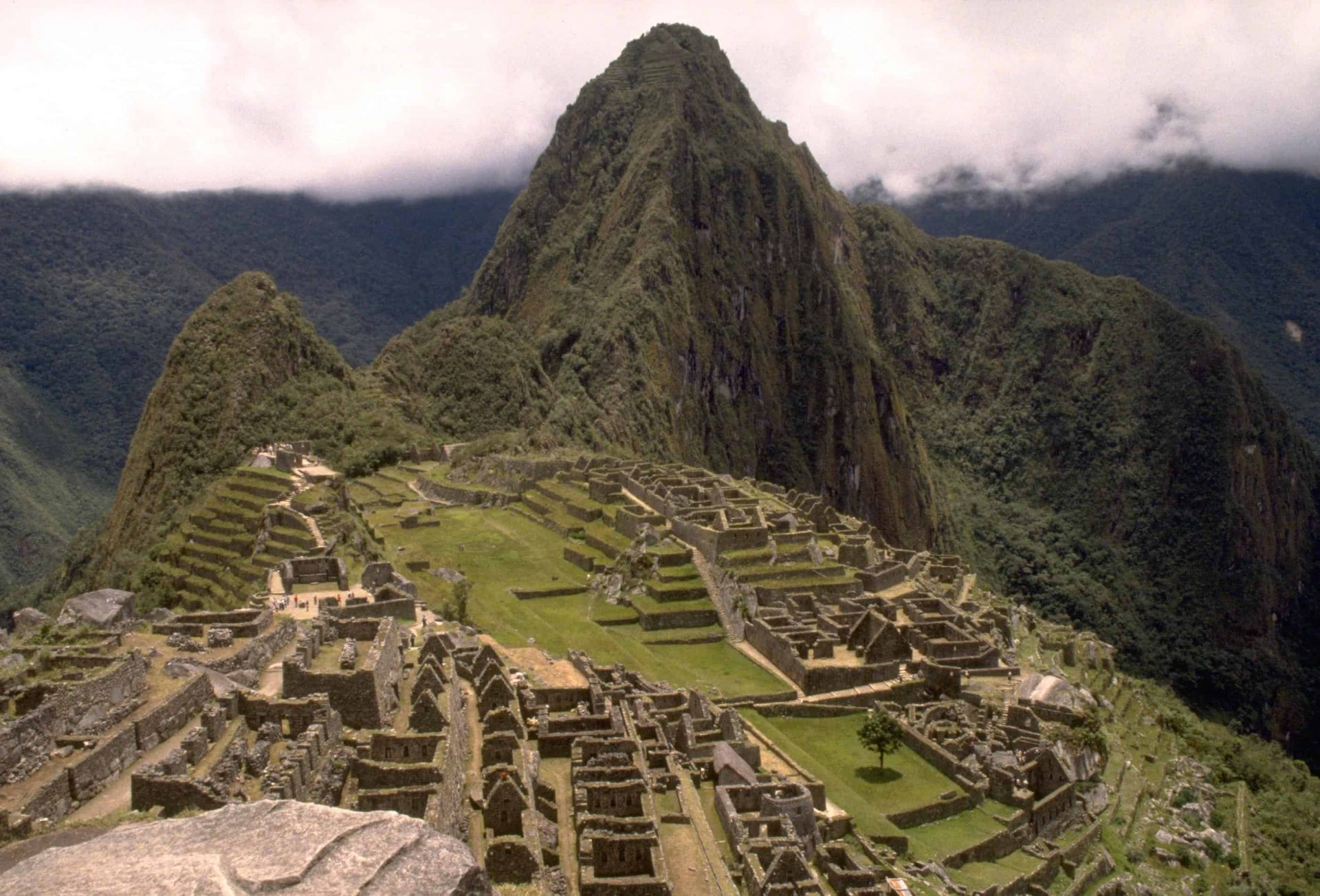 Hillside view at Machu Pichhu