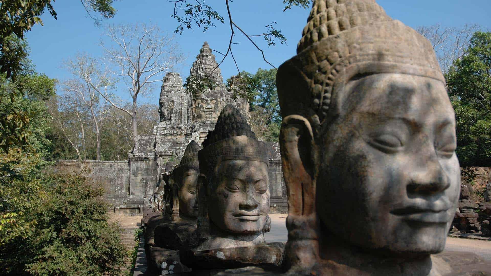 Guardians at Angkor Wat