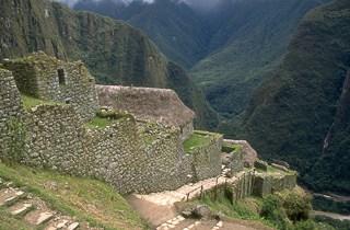 Sliding path Machu Picchu Peru