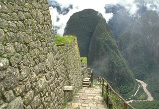 Downward steps Machu Pichhu